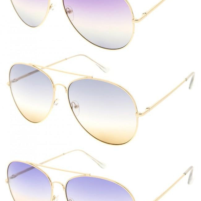 Gold Frame Ombre Lens Blue Light Glasses-Lola Monroe Boutique