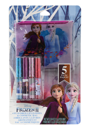Disney Frozen II Lip Gloss 4 Pack with Pouch-Lola Monroe Boutique