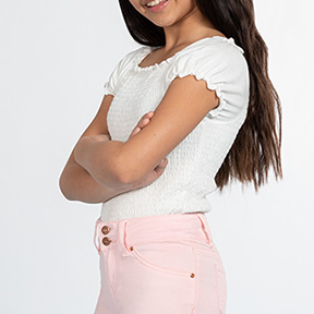 Girls Bermuda Cuffed Shorts-Lola Monroe Boutique