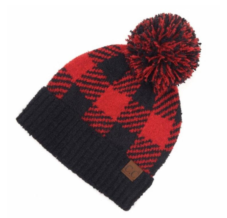 Plaid CC Beanies-Lola Monroe Boutique