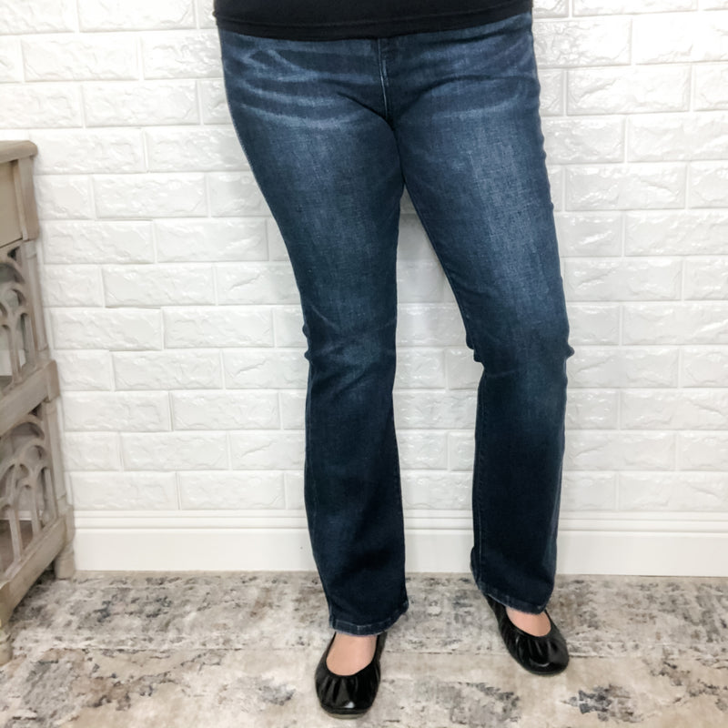 "Judy Blue ""Ride a Cowboy"" High Rise Slim Bootcut-Lola Monroe Boutique"
