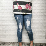 """I Paid Extra For It"" Judy Blue Distressed Jeans-Lola Monroe Boutique"