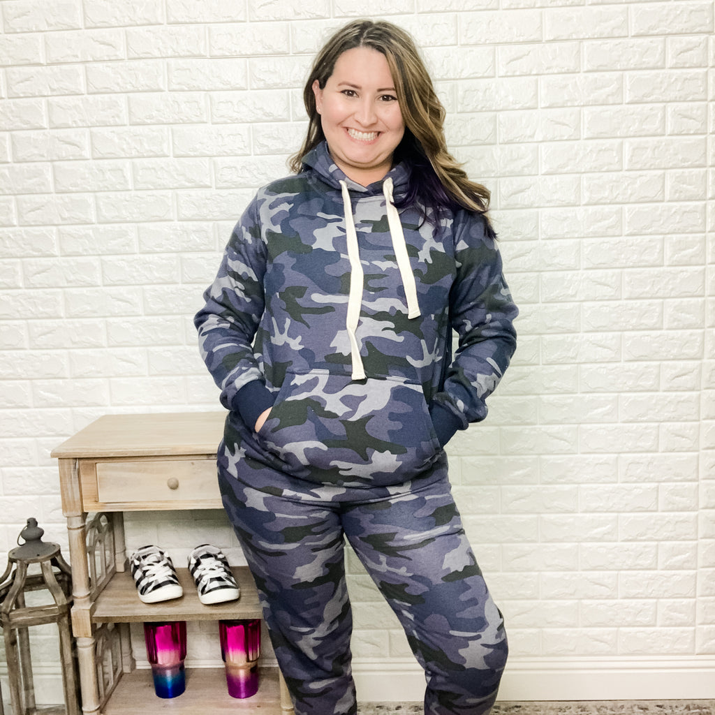 """Set Sail"" Camo Jogger Set (Blue)-Lola Monroe Boutique"