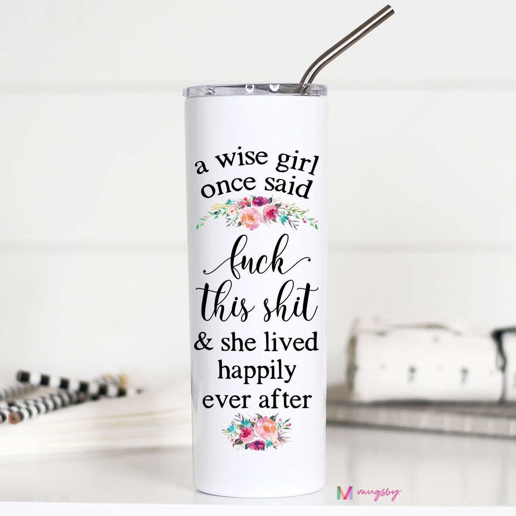 Closeout Tall Travel Tumblers (Multiple Styles Available)-Lola Monroe Boutique