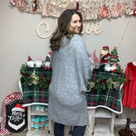 """Am I Dreamin"" Dolman Sleeve Cardigan (Grey)-Lola Monroe Boutique"