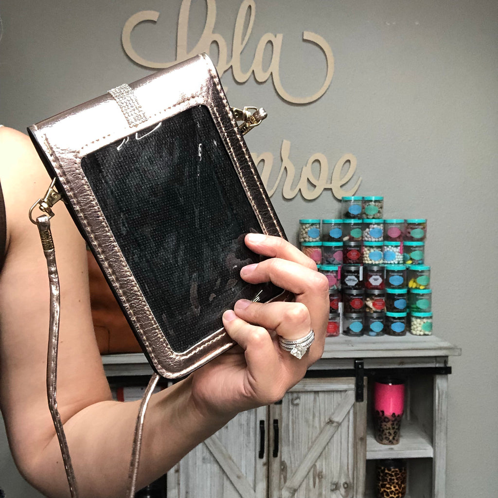 Phone Window Cross Body Bag with Bling-Lola Monroe Boutique