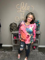 """Melted Crayon"" Long Sleeve Top-Lola Monroe Boutique"