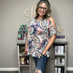 "Honey Me ""Paisley Days"" Peek a Boo Shoulder-Lola Monroe Boutique"