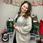 """Am I Dreamin"" Dolman Sleeve Cardigan (Taupe)-Lola Monroe Boutique"