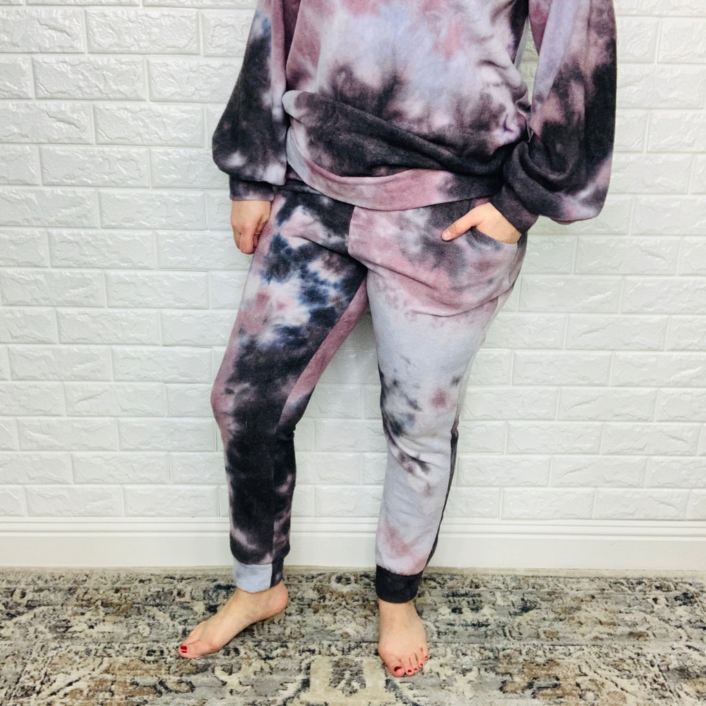 """After the Storm"" Hacci Feel Joggers-Lola Monroe Boutique"