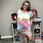 Honey Me Unicorn Dreams V Neck Dress with Pockets-Lola Monroe Boutique