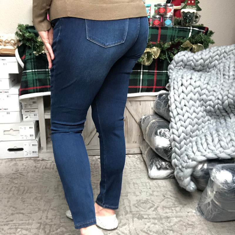 "Judy Blue ""Therma and Louise"" Super Stretch Skinny Jeans-Lola Monroe Boutique"