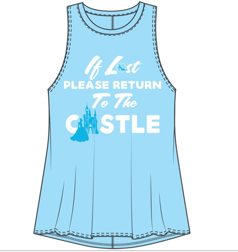 Junior Sizing Disney Castle (If Lost) Tank Top-Lola Monroe Boutique