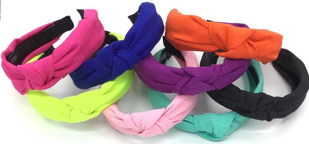 Cloth Wrapped Knot Top Desin Headband (Multiple Colors)-Lola Monroe Boutique