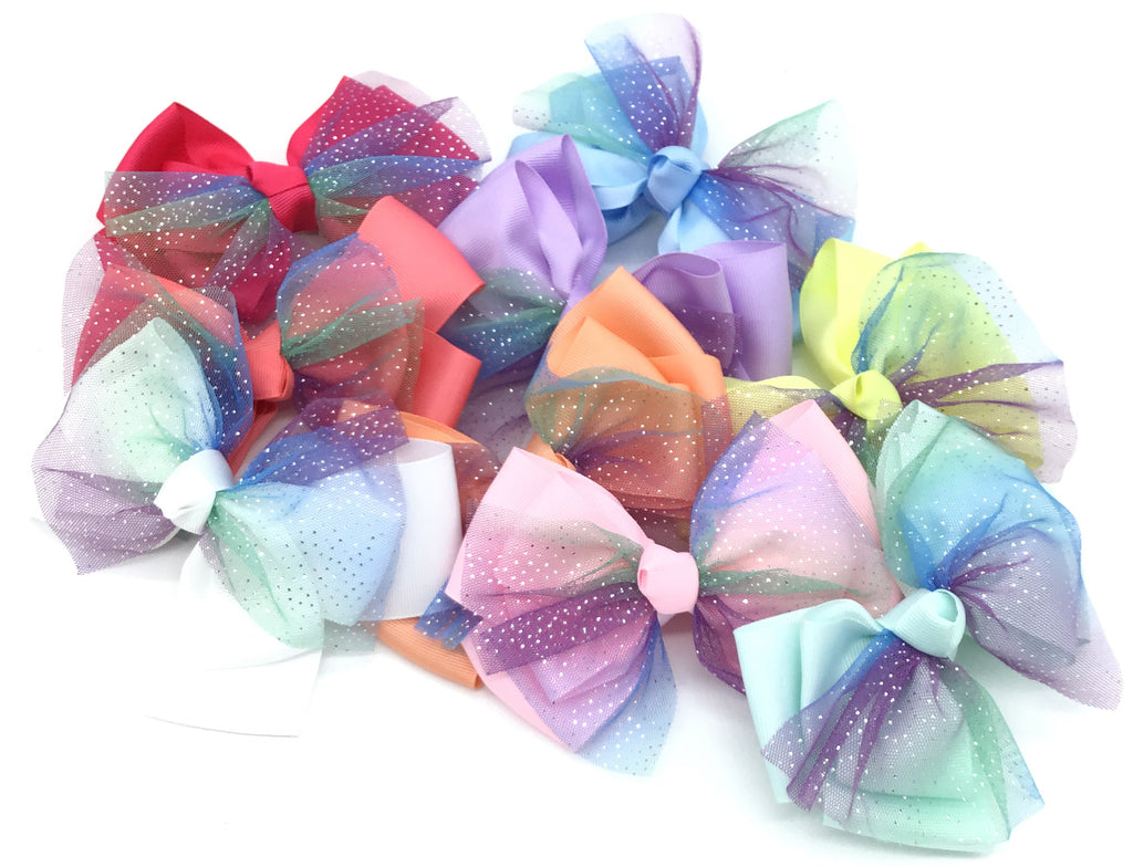 Kids Mermaid Hair Bows-Lola Monroe Boutique