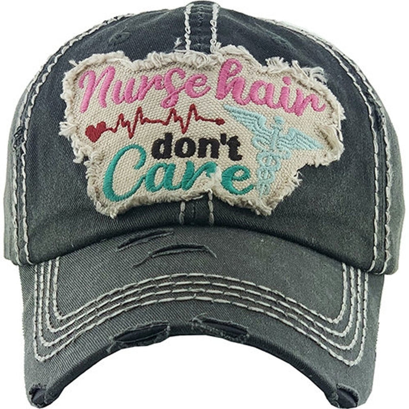Nurse Hair Dont Care Trucker Hat-Lola Monroe Boutique