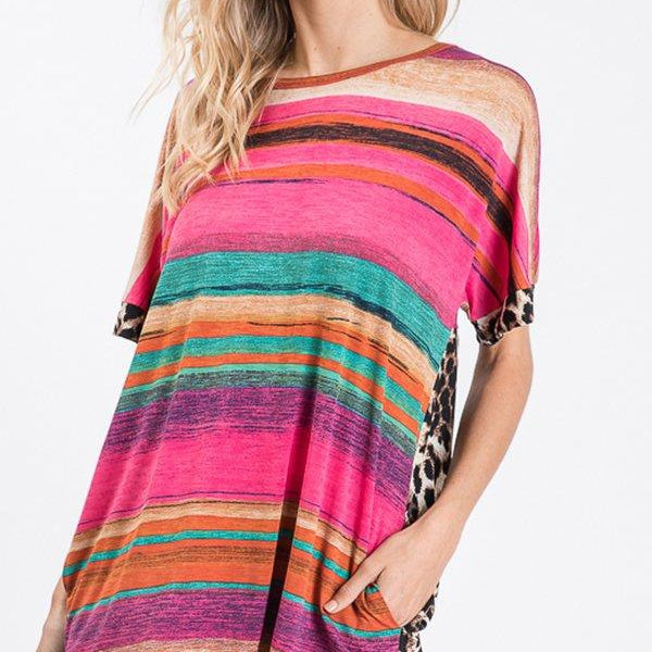 Vacation Vibes Tunic with Pockets-Lola Monroe Boutique