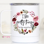 Stainless Steel 12 Ounce travel mugs (Multiple Styles Available)-Lola Monroe Boutique