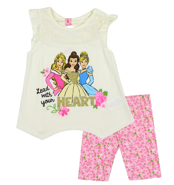 Disney Princess Kids Short Set-Lola Monroe Boutique