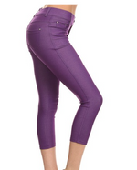 Trouser that Feel Like Jeggings Capris (Multiple Colors)-Lola Monroe Boutique