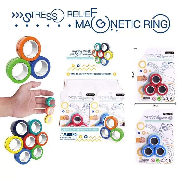 Magnetic Stress Relief Rings-Lola Monroe Boutique