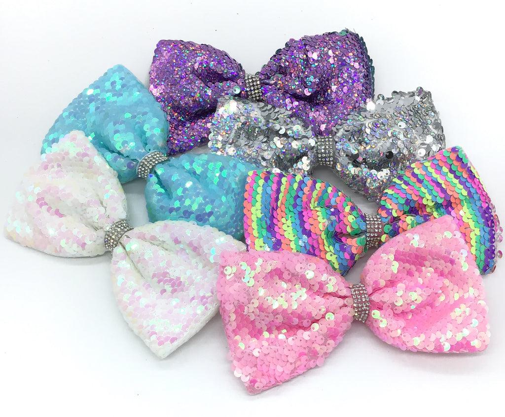Flipsy Sequin Hair Bow (Multiple Colors)-Lola Monroe Boutique