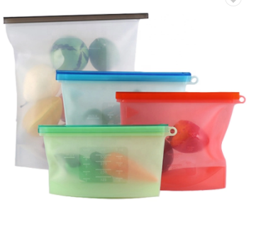 1000ml Reusable Silicone Storage Food Bags BPA Free-Lola Monroe Boutique