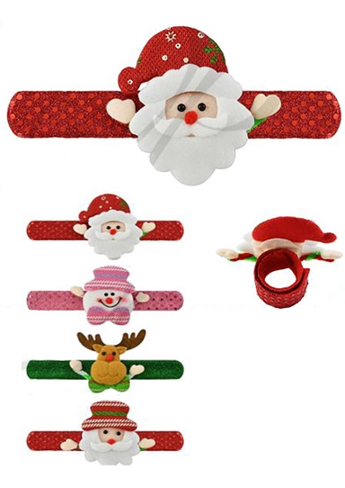 Christmas Light Up Slap Bracelets (Multiple Characters)-Lola Monroe Boutique
