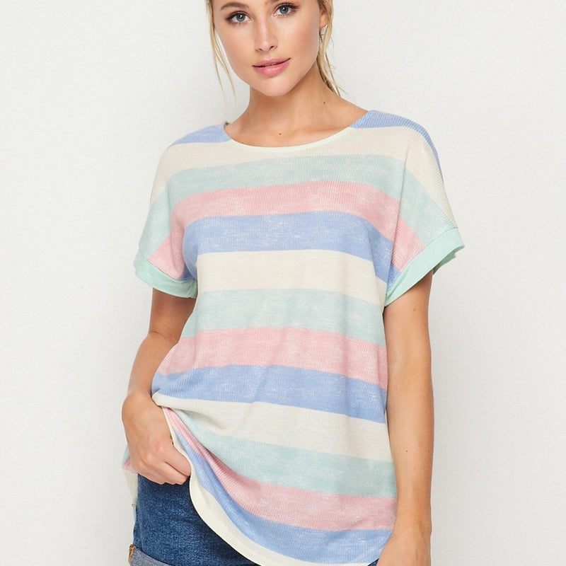 Honey Me Pastel Stripe Tunic-Lola Monroe Boutique