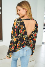 """Falling In Love"" Floral Long Sleeve Top-Lola Monroe Boutique"