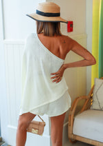 SUMMER IN TUSCANI KNITTED CO-ORD SET WHITE
