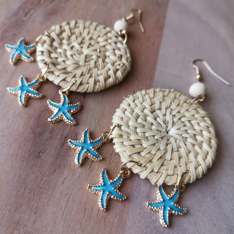 You're My Starfish Earrings Blue