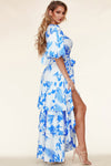 ON A LOVE SPELL BLUE MAXI DRESS