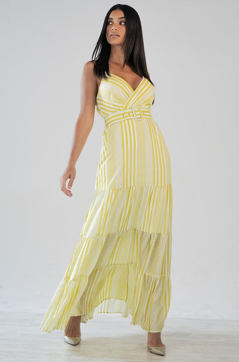 MAD ABOUT YOU LIME MAXI DRESS