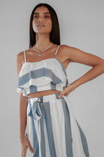 FRENCH COAST TOP & SKIRT SET BLUE