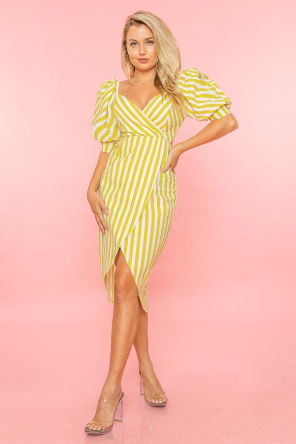 BOW TIE SWEETHEART STRIPED DRESS
