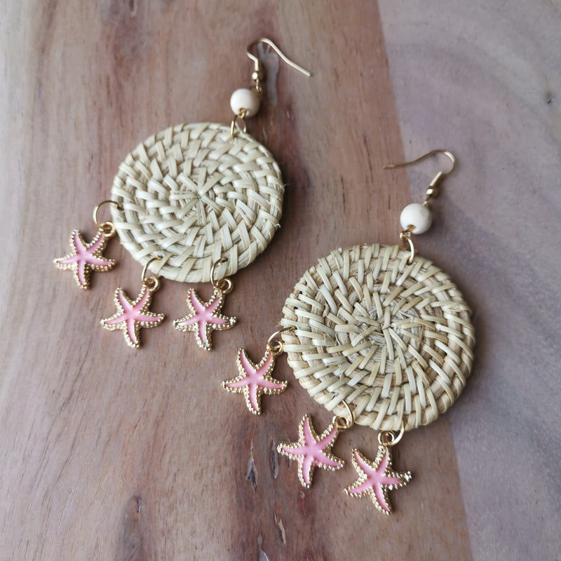 You're My Starfish Earrings Pink