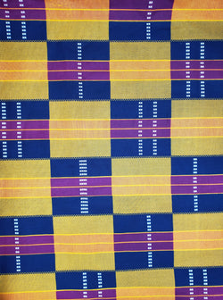 Black Kente Print Fabric