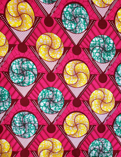 African Fabric - Circles & Triangles