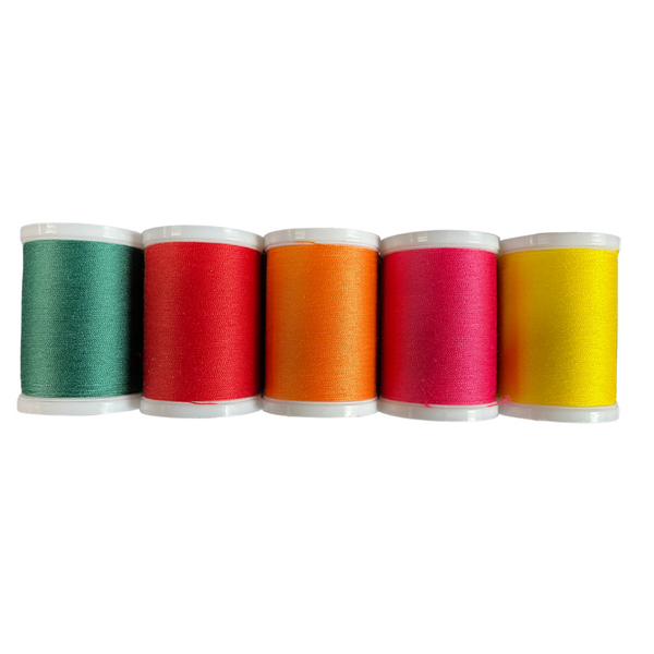 5 Pack Bright Colors Coats & Clark Thread