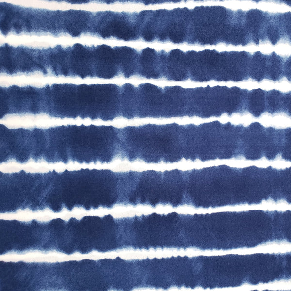 Blue White Stripe Poly Blend