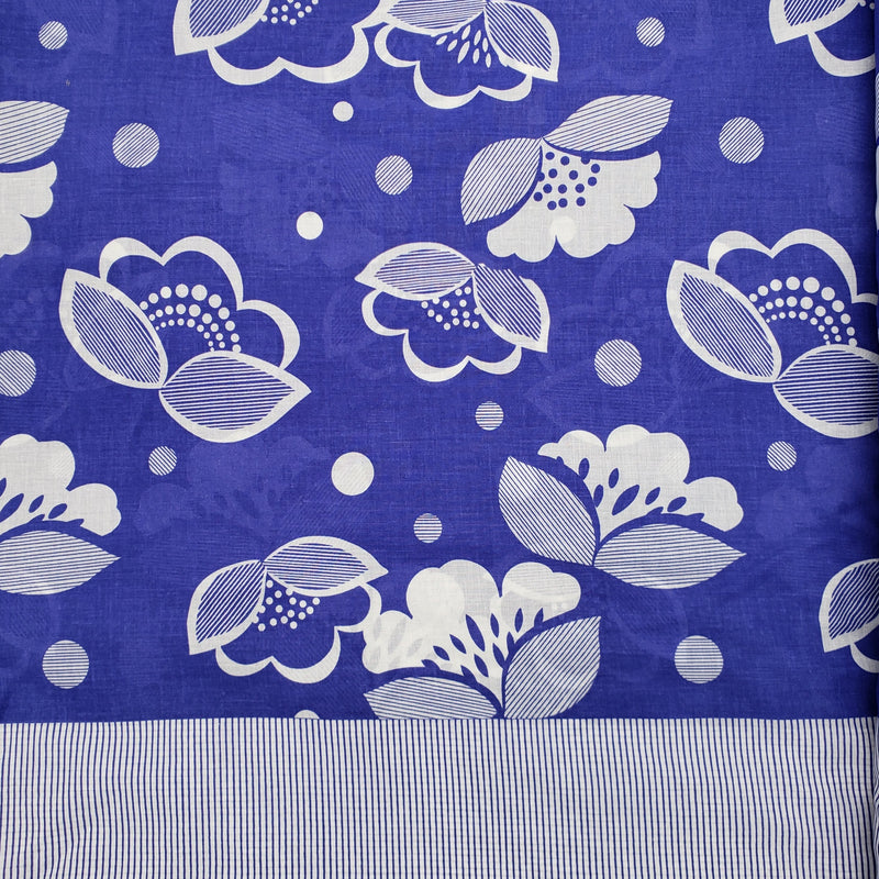 Periwinkle Floral with Border