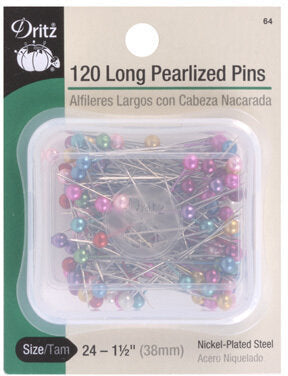 Dritz Long Pearlized Pins 120 pieces