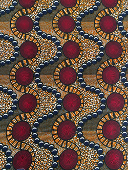 Waves and Circles African Fabric