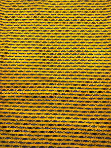 Yellow African Print Fabric