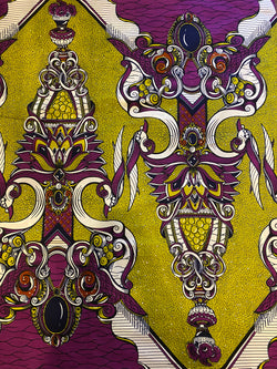 Purple Dynasty African Print Fabric