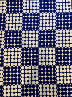 Blue and White Dots Print Fabric