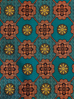 Royal Turquoise African Print Fabric