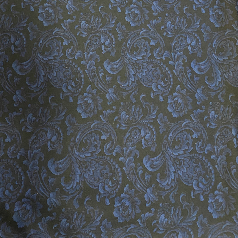 Remnant: 29 inches - Color Wall (Navy) Cotton Fabric