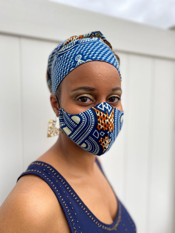 Face Mask and Head wrap set